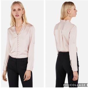 EUC Express Slim Ruffle Button Portofino Shirt